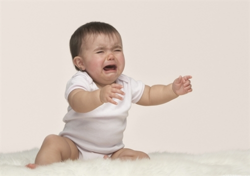 A crying baby (OJO Images via AP Images)