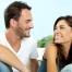 Happy Couple Having Chat