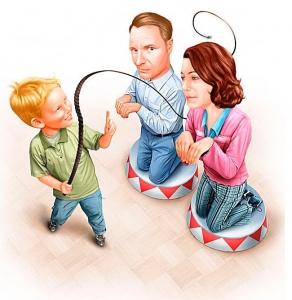 kodel vaikas ima nurodineti tevams